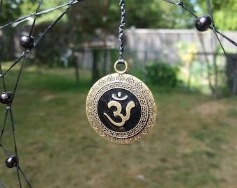 Spiritual Om Medallion & Sandalwood beads (Willow Collection) Dream Catcher by MoonChildMohnstar