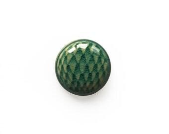 Ceramic Green Crackle Cactus Caboshon
