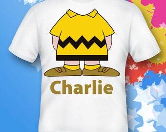 charlie brown Shirt.  peanuts Shirt.  charlie brown gift. charlie brown costume.  charlie brown birthday
