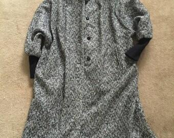 Vintage full length tweed coat