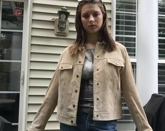 Vintage Tan Suede/Leather Jacket