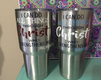 New Yeti 30 oz tumbler with custom decal!! Great colors for men!!!