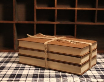 Set of 3 Decorative Vintage Books
