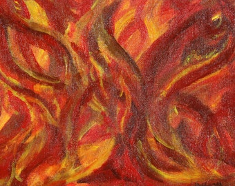 "Original Acrylic Painting ""Flames"""