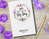 "Wedding Planner""Little notes for the BIG DAY"" Book Wedding Journal Personalized custom wedding book bridal shower guest book"