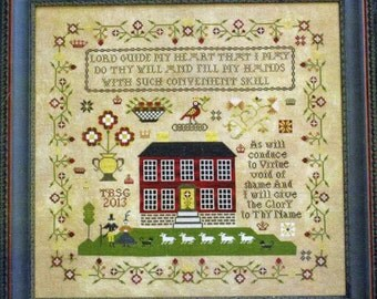 Crowned Bird Sampler by Plum Street Samplers Counted Cross Stitch Pattern/Chart