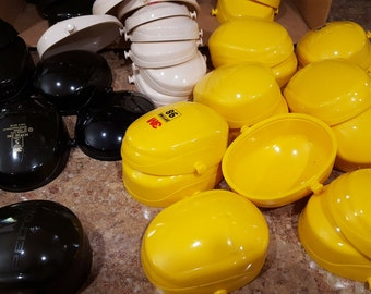 Upcycled Art Supplies-Brown,Yellow, Tan Heavy Plastic Cups-Mix or Match Package of 10