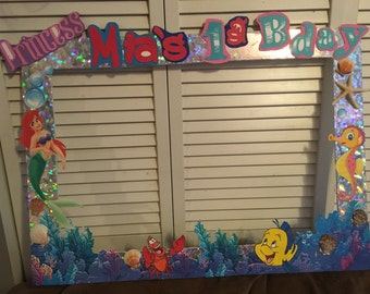 Little mermaid photo booth