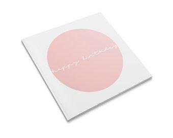 Happy Birthday Peach Greeting Card