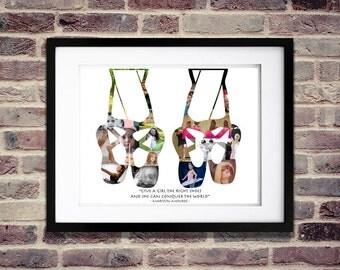 Ballerina Photo Collage - Ballet Photo Collage - Ballet SVG - Ballet Shoes - Ballet Gift - Ballet Wall Art - Ballet Art - Ballet Decor