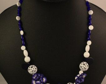 Blue and White Unite necklace