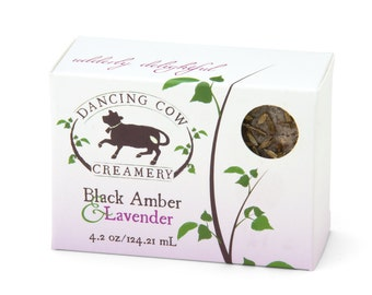 Black Amber and Lavender soap