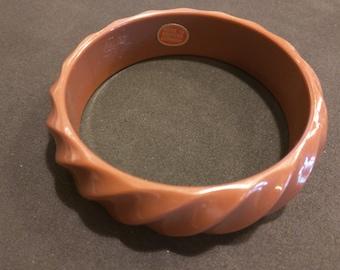 Brown vintage Bakelite bracelet