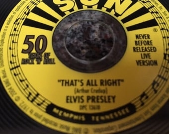 "Elvis Presley Limited Release Issue Record of ""That's All Right"" (2004)"