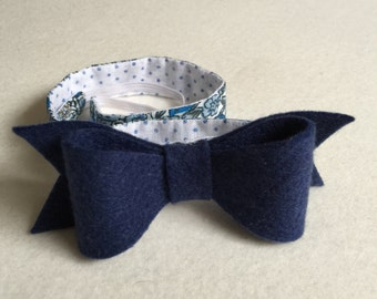 Blue Bow Headband