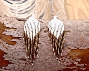 Golden wing earrings