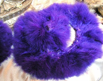 Purple marabou feathers , bulk, lot, wholesale, hair extension, golden yellow feather