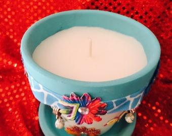 Flowerpot candle