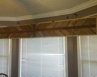Barn Wood Window Valance