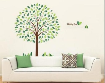 Happy Tree Wall Decal - Nursery Kids Wall Decor - Wall Sticker | PP201