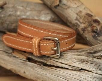 Natural cow leather bracelet