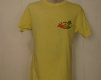 T-shirts, vintage, 1980s, Kailua, Hawaiian, large