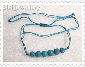 Handcrafted Turquoise necklace #N7698