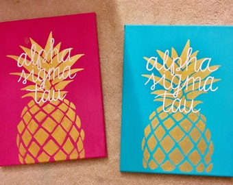Pineapple Sorority Canvas