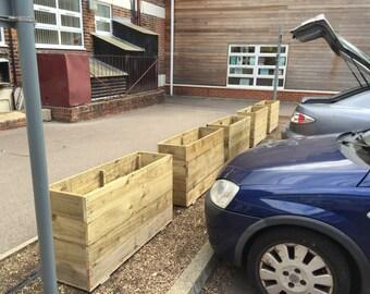 Large Hand Made, Wooden garden planter
