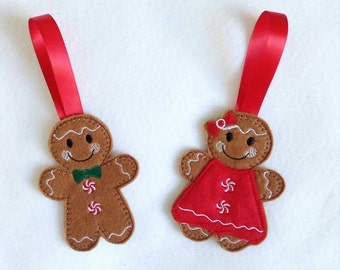 Christmas decorations, gingerbread man decoration, tree hanging, felt Christmas decoration, Christmas, Gingerbread man, Mrs Gingerbread