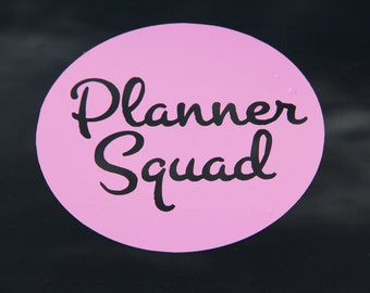 Planner Squad Logo Window Vinyl Decal
