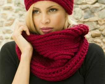 Oversize Chunky Crochet Neckwarmer Cowl Scarf, Warm Winter Oversize Snood, Trendy Christmas Gift For Her, Chunky Womens Neck Warmer Cowl