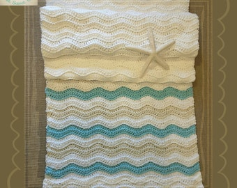 PDF Crochet Pattern to make your own Coastal Table Runner
