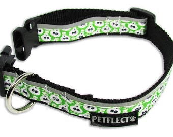 Alien Reflective Dog Collar