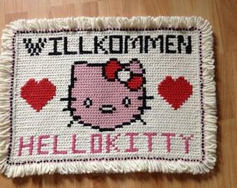 Hello Kitty carpet typical arraiolos