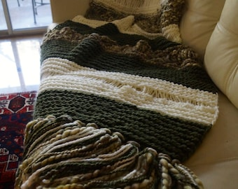 Footboard blanket and wool blend .