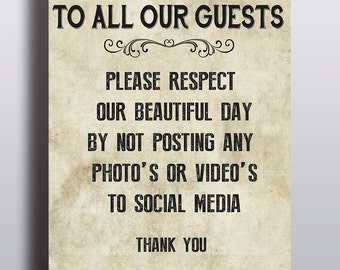 Wedding Day no social media poster or board