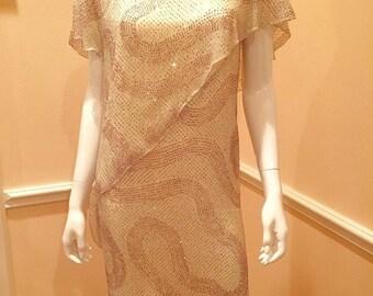 AJ Bari for I. magnin small medium sparkly dress