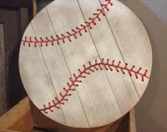 Rustic Barn Wood Baseball
