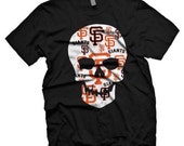 San Franciso Giants 100% cotton skull tee