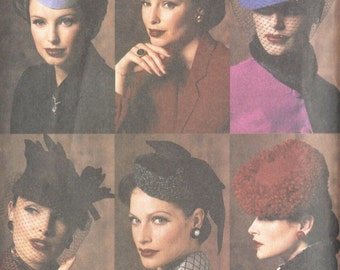 1940s Vintage VOGUE Sewing Pattern Hats One Size  (1150)  Vogue 7657