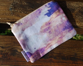 Ethereal  Print Coin Purse/ Zip Pouch