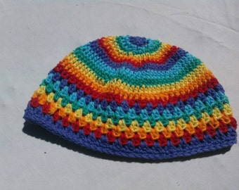 Rainbow Baby Cotton Beanie