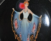 """House of Erte for Royal Doulton """"Tiwlight"""" Franklin Mint limited edition collectors plate"""