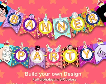 Steven Universe - Banner Party - 173 pdf files 300 dpi - For you Steven Universe Party - Build your own design