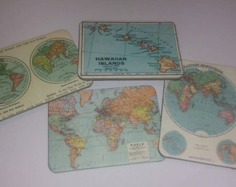 Travel Magnets, World Map