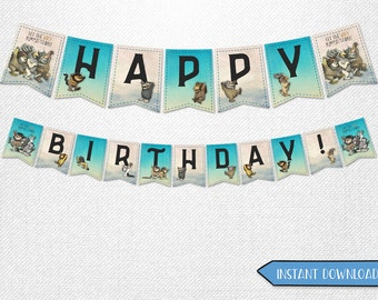 Where the Wild Things Are banners, Where the Wild Things Are Happy Birthday banners, Where the Wild Things Are A Wild Rumpus banners!