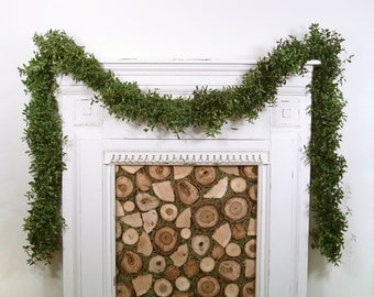 Christmas Garland, Fresh Boxwood Garland, By The Foot, Custom, Mantle Garland, Mantel, Wedding Decor, Natural, Real Greenery, Holiday Decor