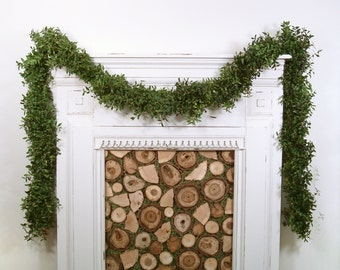 Fresh Boxwood Garland, By The Foot, Custom Length, Wedding Decor, Natural, Real Greenery, Mantel Garland, Christmas Garland,  Holiday Decor