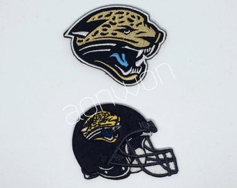 Jacksonville Jaguars Football Embroidered Iron On Patch - Set 2 PCS.